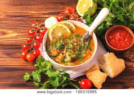 Jewish Wedding And Holyday Yemenite Beef Soup Marak Temani