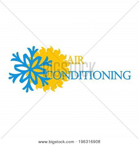 Air conditioning symbol vector business illustration icon