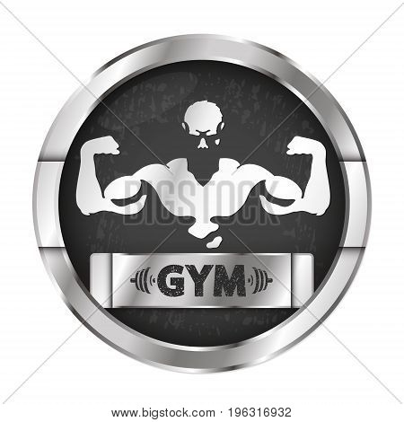 Gym and fitness center vector illustration bodybuilder
