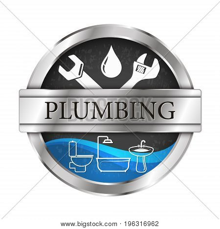Plumbing and running water vector illustration of repairs and maintenance