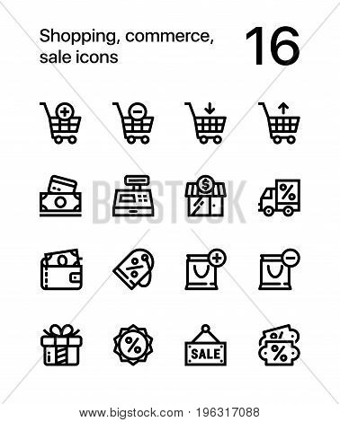 Shopping, commerce, sale icons for web and mobile design pack 1
