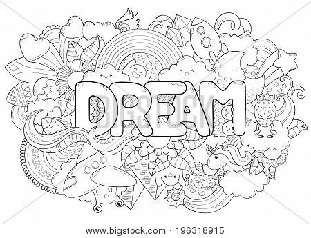 Abstract background with text dream. Texture for typography.