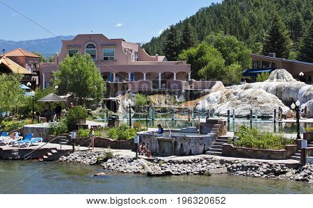 PAGOSA SPRINGS, COLORADO, JUNE 23. The Springs Resort & Spa on June 23, 2017, in Pagosa Springs, Colorado. A View of The Springs Resort & Spa in Pagosa Springs Colorado.