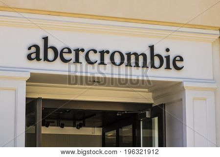 Las Vegas - Circa July 2017: Abercrombie & Fitch Clothing Store. Abercrombie & Fitch is a retailer that focuses on casual wear for young consumers III