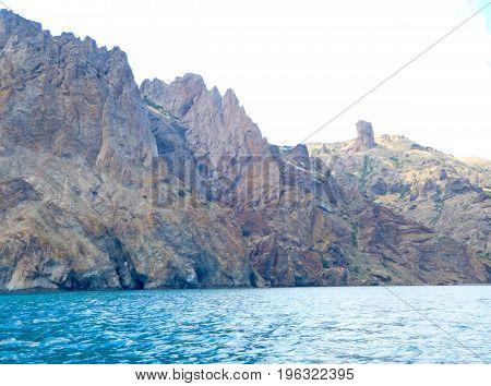 Crimean landscape of the extinct Karadag volcano
