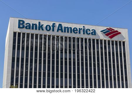 Las Vegas - Circa July 2017: Bank of America Bank and Loan Branch. Bank of America is a Banking and Financial Services Corporation VI