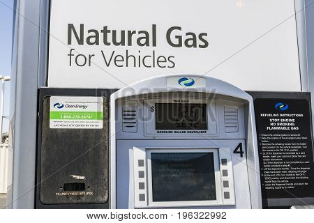 Las Vegas - Circa July 2017: Clean Energy Fuels Natural Gas Station. Clean Energy distributes Compressed natural gas (CNG) and Liquefied Natural Gas (LNG) II