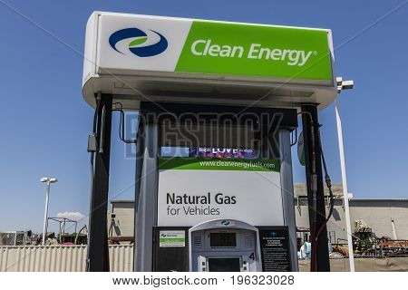 Las Vegas - Circa July 2017: Clean Energy Fuels Natural Gas Station. Clean Energy distributes Compressed natural gas (CNG) and Liquefied Natural Gas (LNG) III
