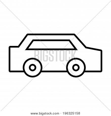 line normal car to transportation and modern style vector illustration