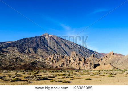 Tenerife national reserve volcanic park El Teide. Canary islands, Spain.