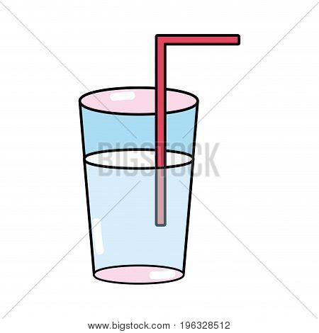 refreshment in the bottle glass to drink vectorillustration