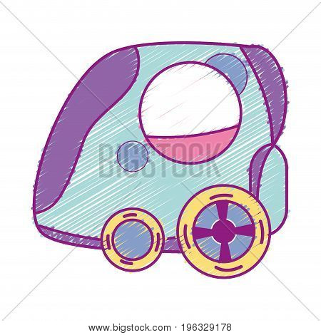 futuristic car with modern elements design vector illustration
