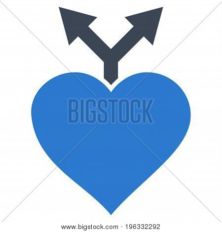 Love Variants flat icon. Vector bicolor smooth blue symbol. Pictogram is isolated on a white background. Trendy flat style illustration for web site design, logo, ads, apps, user interface.