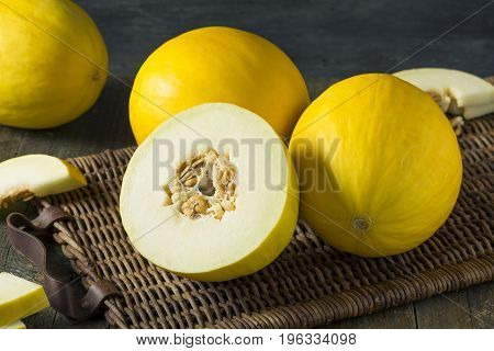 Raw Organic Yellow Honedew Melon