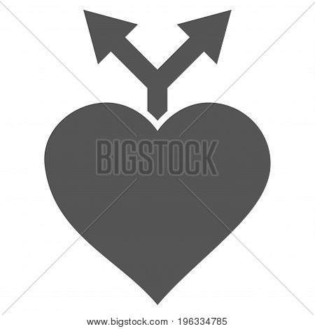 Love Variants flat icon. Vector gray symbol. Pictograph is isolated on a white background. Trendy flat style illustration for web site design, logo, ads, apps, user interface.