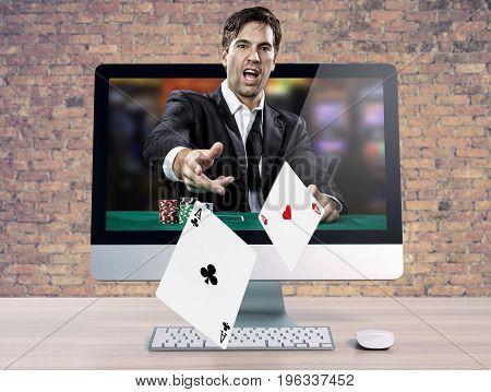 Online Poker Player