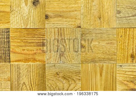 Detail of an old canvas, wooden squares. Grunge ecological wooden texture background, wood surface. With a place for your text