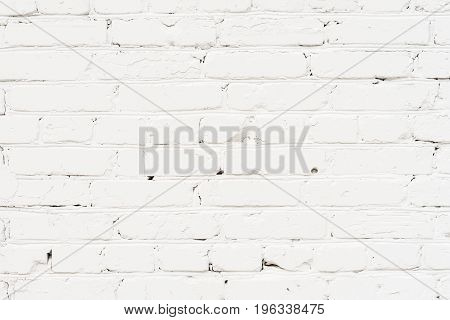 City old painted, plastered brick wall, prepared for drawing creative graffiti. Can be useful for backgrounds and backdrops