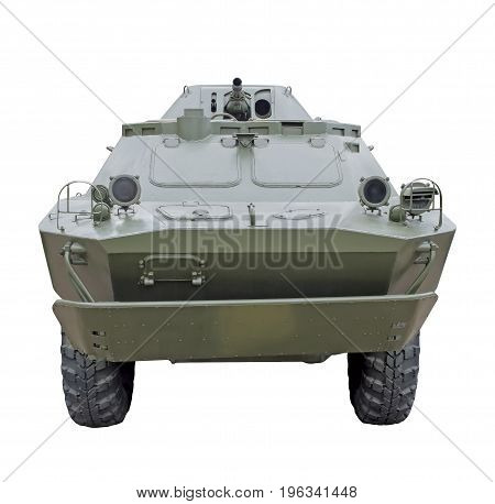 Russian military Combat Reconnaissance-Patrol Vehicle BRDM-2 isolated on a white background