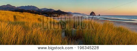 Looking South To Cannon Beach And Haystack Rock In Cannon Beach,