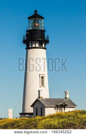 Yaquina Head Lighthouse near Newport, Oregon, USA