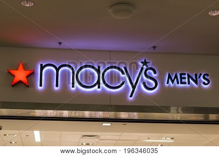 Las Vegas - Circa July 2017: Macys Department Store. Macy's Inc. is one of the Nation's Premier Omnichannel Retailers IX