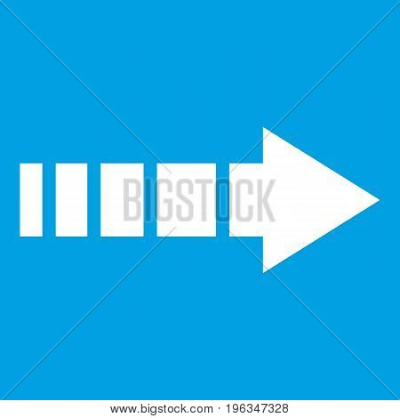 Cursor icon white isolated on blue background vector illustration