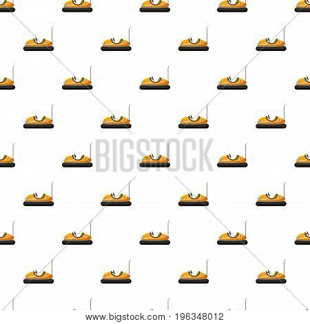 Children bumper machine pattern seamless repeat in cartoon style vector illustration