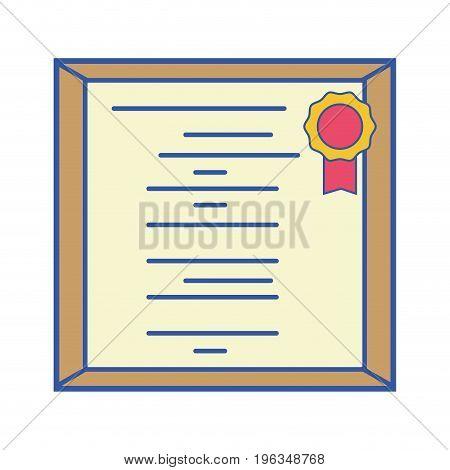 diploma certificate to honor graduation celebrate vector illustration