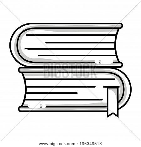 line books with important information to learn and read vector illustration