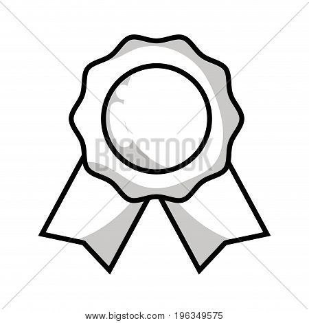 line medal symbol to winner of competition game vector illustration