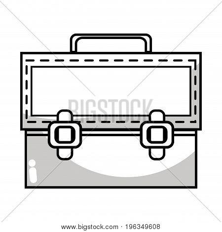 line elegant briefcase to save important document vector illustration