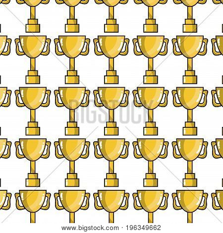 cup prize symbol to winner of competition game background vector illustration