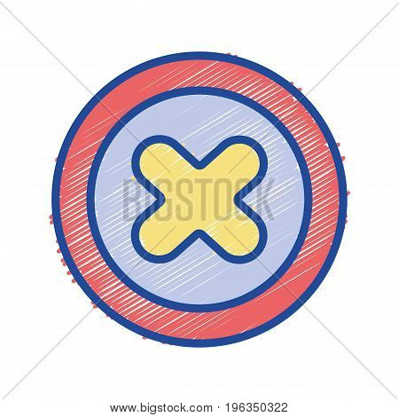 x network symbol to web connection vector illustration