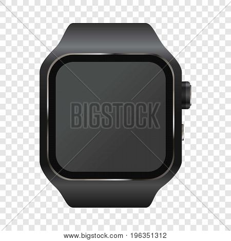 Wrist digital watch mockup. Realistic illustration of wrist digital watch vector mockup for web