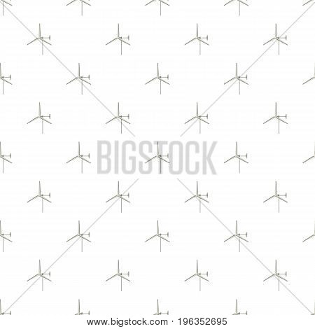 Windmill for electric power production pattern seamless repeat in cartoon style vector illustration