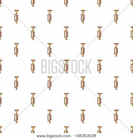Yellow trumpet pattern seamless repeat in cartoon style vector illustration