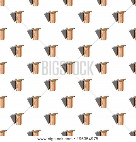 Beekeeping smoker pattern seamless repeat in cartoon style vector illustration