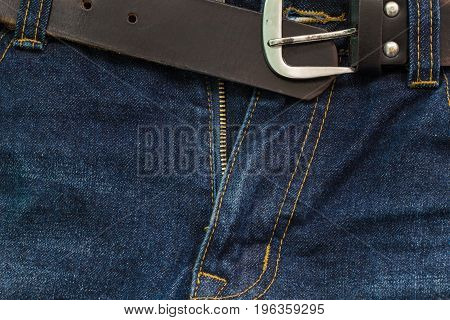 Denim man Blue Jeans Crotch with Zip