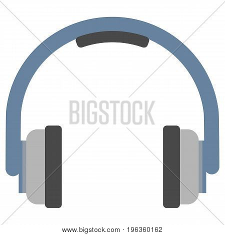 Portable stereo headphones vector illustration. Flat style design. Colorful graphics
