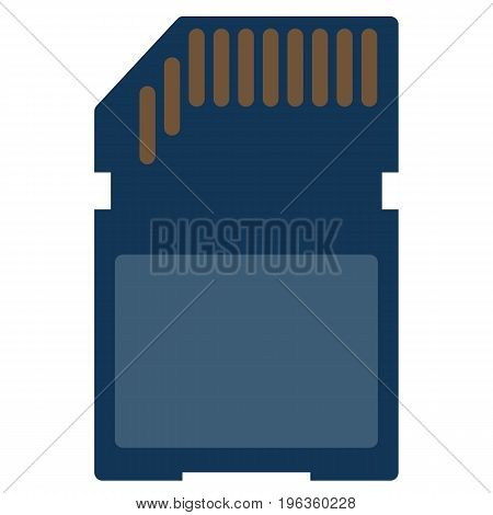 Memory SD card vector illustration. Flat style design. Colorful graphics