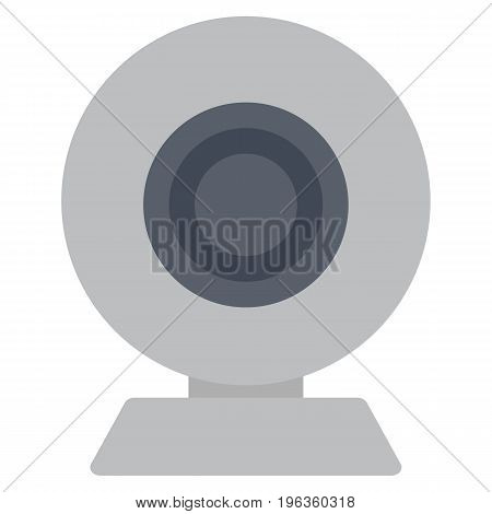 Chat web camera vector illustration. Wireless technologies concept. Flat style design. Colorful graphics