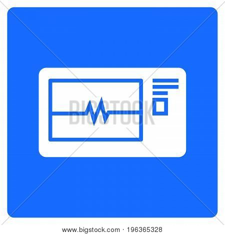 Simple thin line electrocardiogram machine icon vector