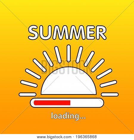 Summer is loading. Vector illustration. Eps 10