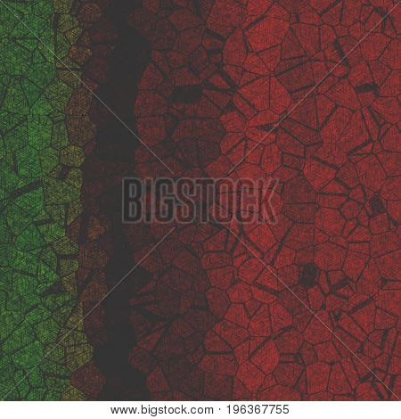 Uneven Texture Pencil Like Strokes Background Design With Random Forms In Red Green Colors