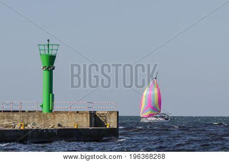 SAILING - Yacht under sail at sea