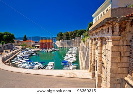 Zadar City Gate And Fosa Harbor View