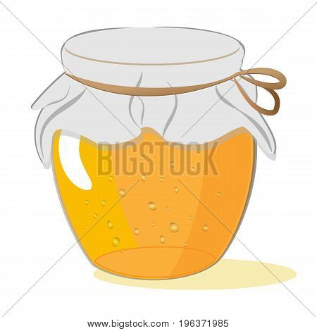 Bank of honey or jam isolated on white background vector
