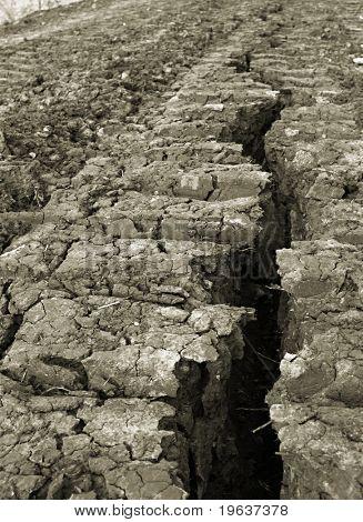 hard lines - split in earth