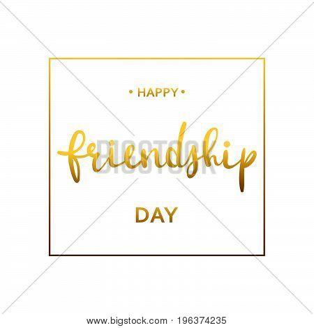 Happy Friendship day vector typographic design. EPS10